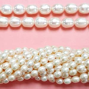 FRESHWATER PEARL RICE 6.5-7MM WHITE
