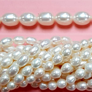 FRESHWATER PEARL RICE 7.5-8MM WHITE