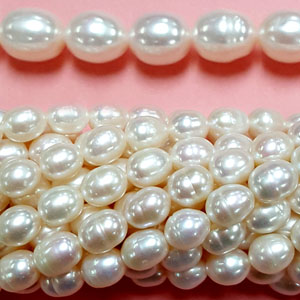 FRESHWATER PEARL RICE 8.5-9 MM WHITE