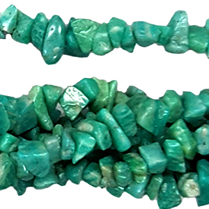 RUSS AMAZONITE CHIPS ( 5 STRS)