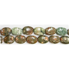 RHYOLITE FLAT OVAL 10X14MM