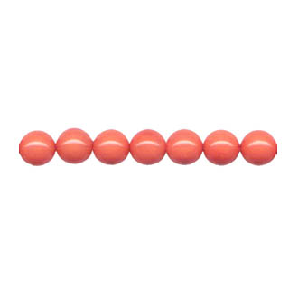 SHELL PEARL PL243 08MM SALMON CORAL