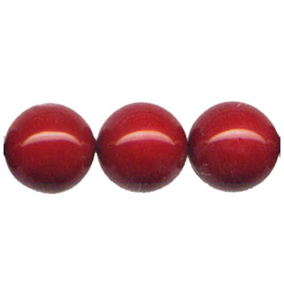 SHELL PEARL PL244 20MM RED CORAL