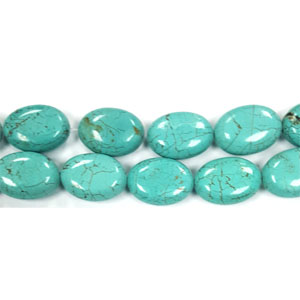 STABILIZE TURQUOISE FLAT OVAL 18X25MM (thickness): 11mm