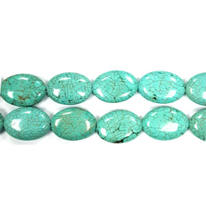 STABILIZE TURQUOISE FLAT OVAL 18X25MM (thickness): 8mm