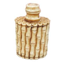 OX BONE CARVED BAMBOO SNUFF BOTTLE  FLAT