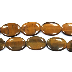 TIGER EYE FLAT OVAL 25X35MM