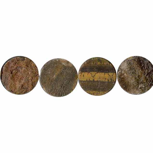 TIGER EYE MATTE COIN 20MM
