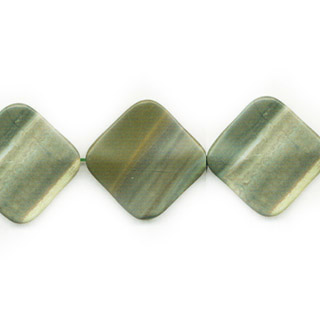 GREEN PICASSO JASPER WAVE DIAMOND 30MM