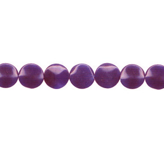 DYED JADE WAVE COIN 20MM DEEP PURPLE