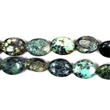 AFRICAN TURQUOISE FLAT OVAL 13X18MM