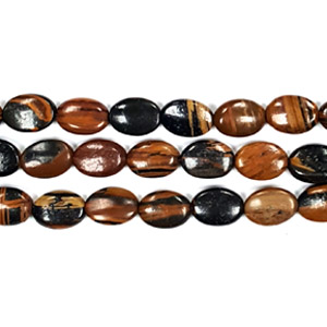 AUTUMN AGATE FLAT OVAL 10X14MM
