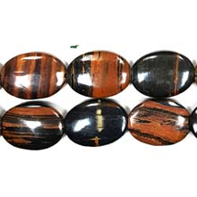 AUTUMN AGATE FLAT OVAL 22X30MM