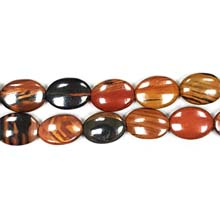 AUTUMN AGATE FLAT OVAL 13X18MM