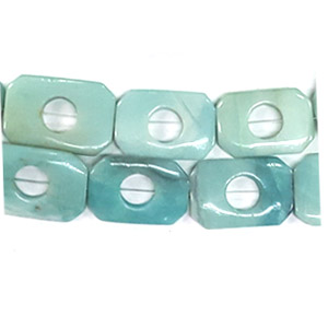 AMAZONITE RECTANGLE HOLLOW 20X30MM
