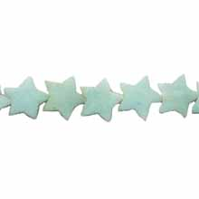 AMAZONITE FLAT STAR 12MM
