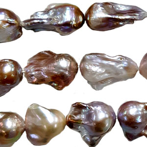 FRESHWATER PEARL BAROQUE 20-30 MM NATURAL LAVENDER