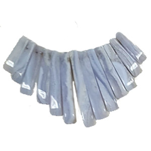 BLUE LACE AGATE 13PCS FAN