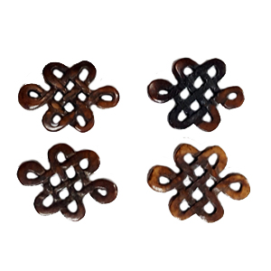 BONE DIAMOND 23X30MM BROWN (4PCS/BAG)