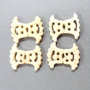 BONE RECTANGLE 22X30MM IVORY (4PCS/BAG)