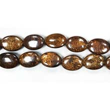 BRONZITE FLAT OVAL 13X18MM