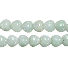 NATURAL JADE PUFF HEART 12MM