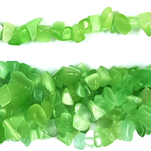 CAT\'S EYE LIGHT GREEN CHIPS (5 STRS)