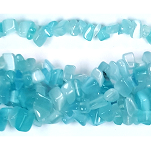 CAT'S EYE TURQUOISE CHIPS ( 5 STRS)