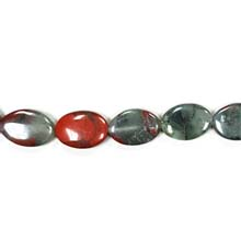 CHICKEN BLOOD FLAT OVAL 13X18MM