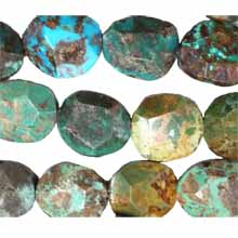 Chinese turquoise faceted oval 20x22mm -24x27mm