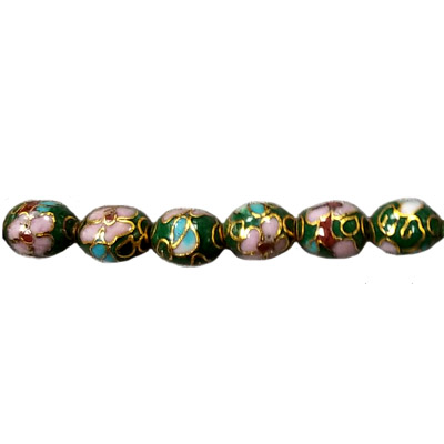 CLOISONNE RICE 07X10MM GREEN