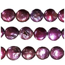 FRESH WATER PEARL COIN PEARL 13-13.5MM WINE