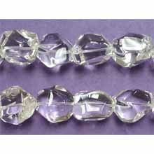 CRYSTAL FACETED NUGGET 20X20-20X24MM