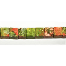 UNAKITE SQUARE 6X6MM