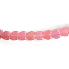 DYED JADE FLAT HEART 06MM PINK