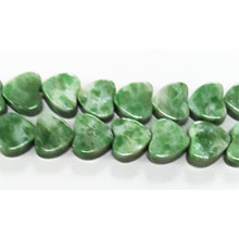 CHINA JADE FLAT HEART 08MM