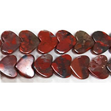 POPPY JASPER FLAT HEART 08MM