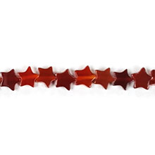 CARNELIAN(DARK) FLAT STAR 06MM