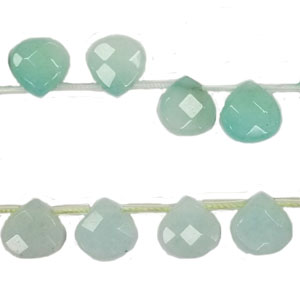 DYED JADE FACETED PEAR SD 13X13MM