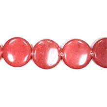 DYED JADE DISC 30MM RED