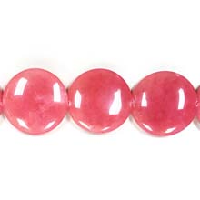 DYED JADE DISC 35MM RED