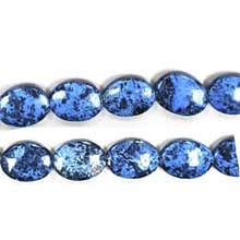DUMORTIERITE FLAT OVAL 13X18MM B GRADE