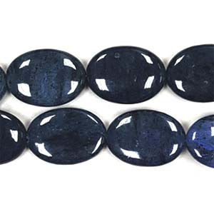 DUMORTIERITE FLAT OVAL 18X25MM