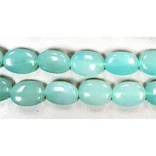 DYED JADE FLAT OVAL 13X18MM