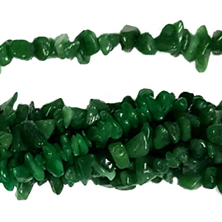 DYED JADE GREEN CHIPS ( 5 STRS)