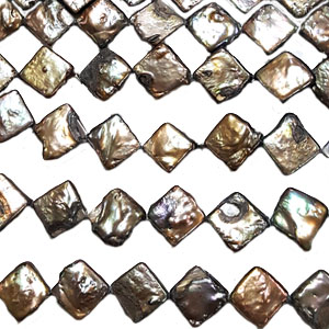 FRESHWATER PEARL DICE 12MM BRONZE