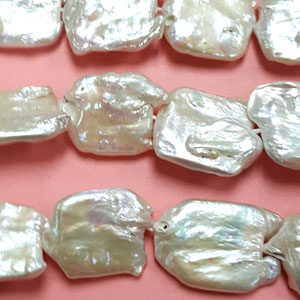 FRESH WATER PEARL SQUARE 19-23MM WHITE