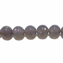 GREY AGATE 16MM FACETED ROUND