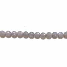 GREY AGATE 08MM FACETED ROUND