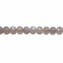 GREY AGATE 10MM FACETED ROUND